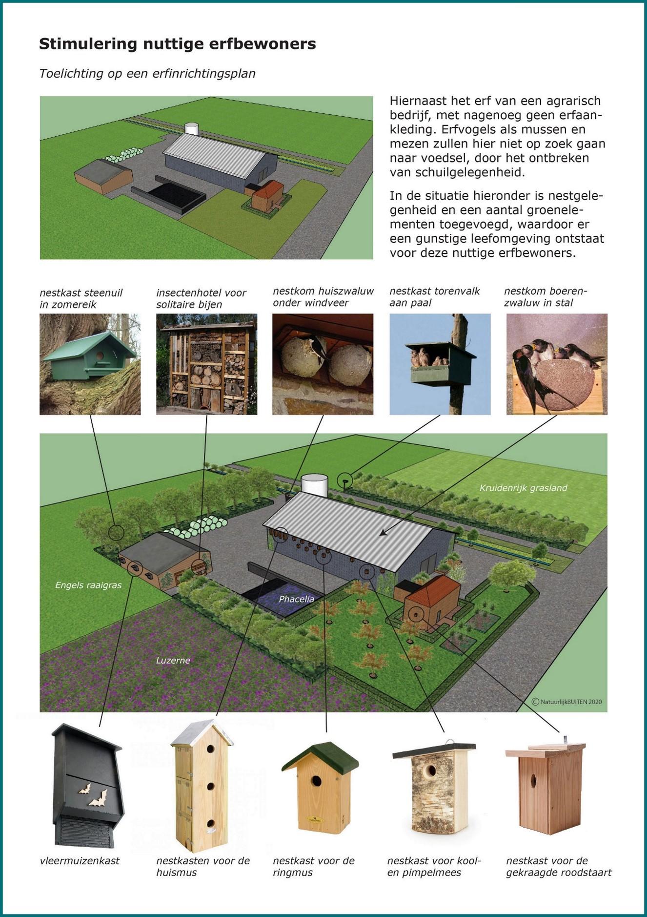 Voorbeeld erfbeplantingsplan nuttige erfbewoners